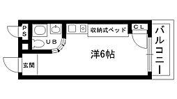 ピュアハウス甲子園[302号室]の間取り