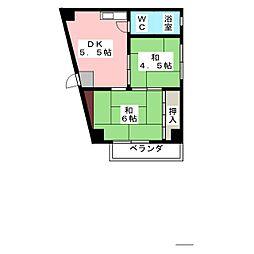 前田ビル[5階]の間取り