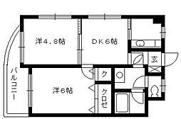 エステートモアDOUX高宮[9階]の間取り
