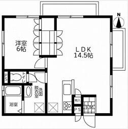 鵠沼ニューコーポ[2階]の間取り