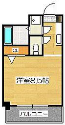 イースト天神・STUDIO[2階]の間取り