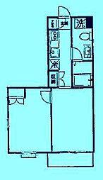 ディチャノーヴェクービ[4階]の間取り