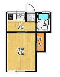 ひらまりアパート[205号室]の間取り