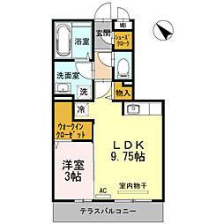 D−room五福[105号室]の間取り