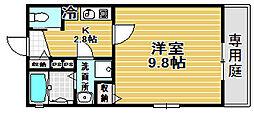 Kiyo maison 綾園[103号室]の間取り