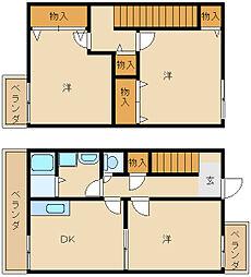 [テラスハウス] 兵庫県姫路市飾磨区高町2丁目 の賃貸【/】の間取り