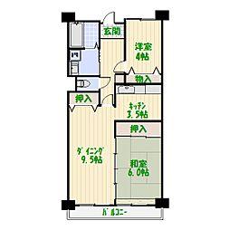 フレール堀切2[1階]の間取り