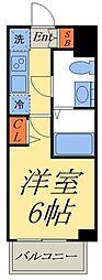 京成押上線 京成立石駅 徒歩8分の賃貸マンション 2階1Kの間取り