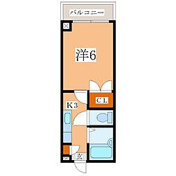 鹿児島県鹿児島市谷山中央3丁目の賃貸マンションの間取り