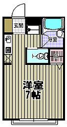 コーポYAMASHIN[203号室]の間取り