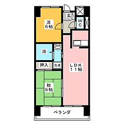 アークヒル[4階]の間取り