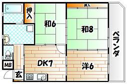 イエローマンション小倉[12階]の間取り