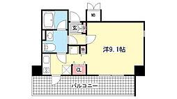 アレンダール神戸本山[4階]の間取り