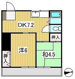 東京都練馬区南大泉3丁目の賃貸アパートの間取り