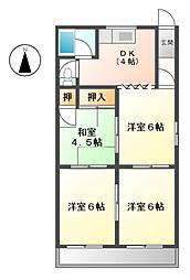 大野マンション[3階]の間取り