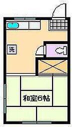 安斉荘[1階]の間取り