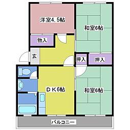 第1イワサキビル[3階]の間取り
