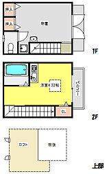 G−BASE 2階ワンルームの間取り