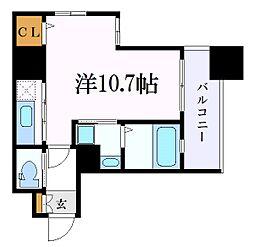 名古屋市営名城線 上前津駅 徒歩8分の賃貸マンション 4階ワンルームの間取り