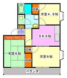サニーコーポ二和[2階]の間取り