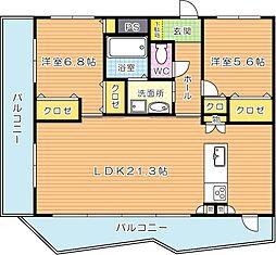 KSK中須コアプレイス[4階]の間取り