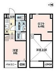 兵庫県尼崎市元浜町1丁目の賃貸アパートの間取り