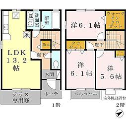 [テラスハウス] 兵庫県神戸市垂水区向陽2丁目 の賃貸【/】の間取り