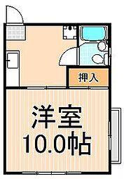 大谷田ハイツ[103号室]の間取り