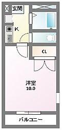 M`s ishihara[2階]の間取り