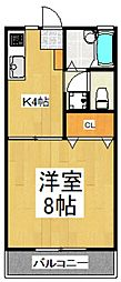 ハイツ斉藤[2階]の間取り
