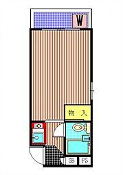LAPIN AGILE 初台の駅近マンション[2階]の間取り
