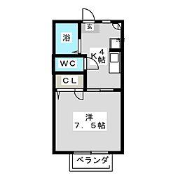 エクセルA棟[2階]の間取り