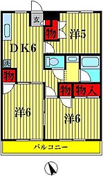 カサベルデ戸山B棟[2階]の間取り