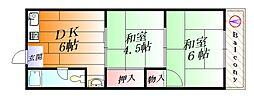 光マンション[5階]の間取り