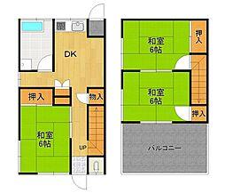 [テラスハウス] 兵庫県伊丹市鈴原町9丁目 の賃貸【/】の間取り
