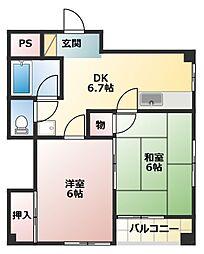 吉川サンビレッジ[3階]の間取り