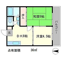 サンハイツ岩倉A棟[2階]の間取り