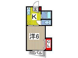 レジデンスSHINODA[2階]の間取り