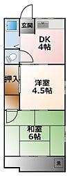植田文化[2階]の間取り