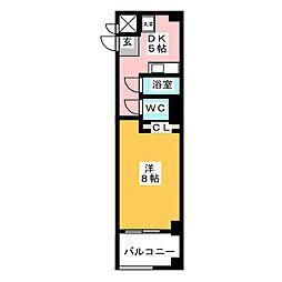 桃花館[4階]の間取り