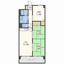 グランメールN35[5階]の間取り