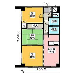 レジデンスMAX[7階]の間取り