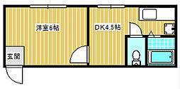 USマンション[304号室]の間取り