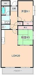 ルモン 北桜塚[5階]の間取り