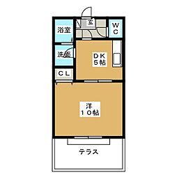 タワーコート[1階]の間取り