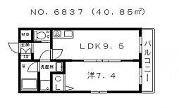 ゼンラフォーレ玉造[3階]の間取り