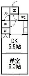北海道札幌市白石区菊水七条2丁目の賃貸マンションの間取り