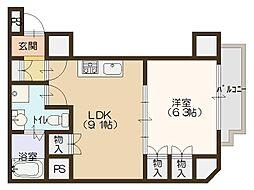 南堀江アパートメントグランデ[10階]の間取り