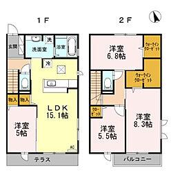 D-room小笹II[1階]の間取り