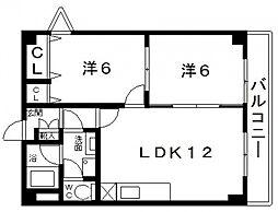 第2コーポラスローザ[3階]の間取り